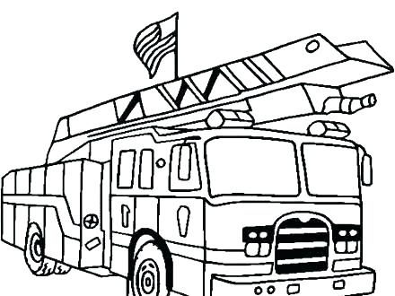 440x330 Fire Truck Coloring Pages
