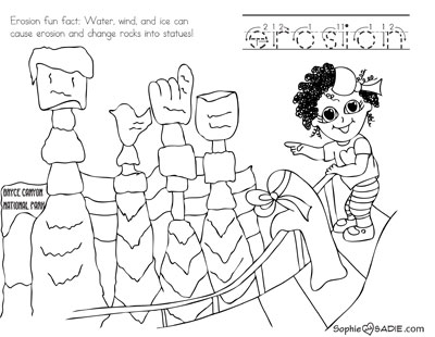 400x310 Coloring Page Bryce Canyon National Park Sophie And Sadie