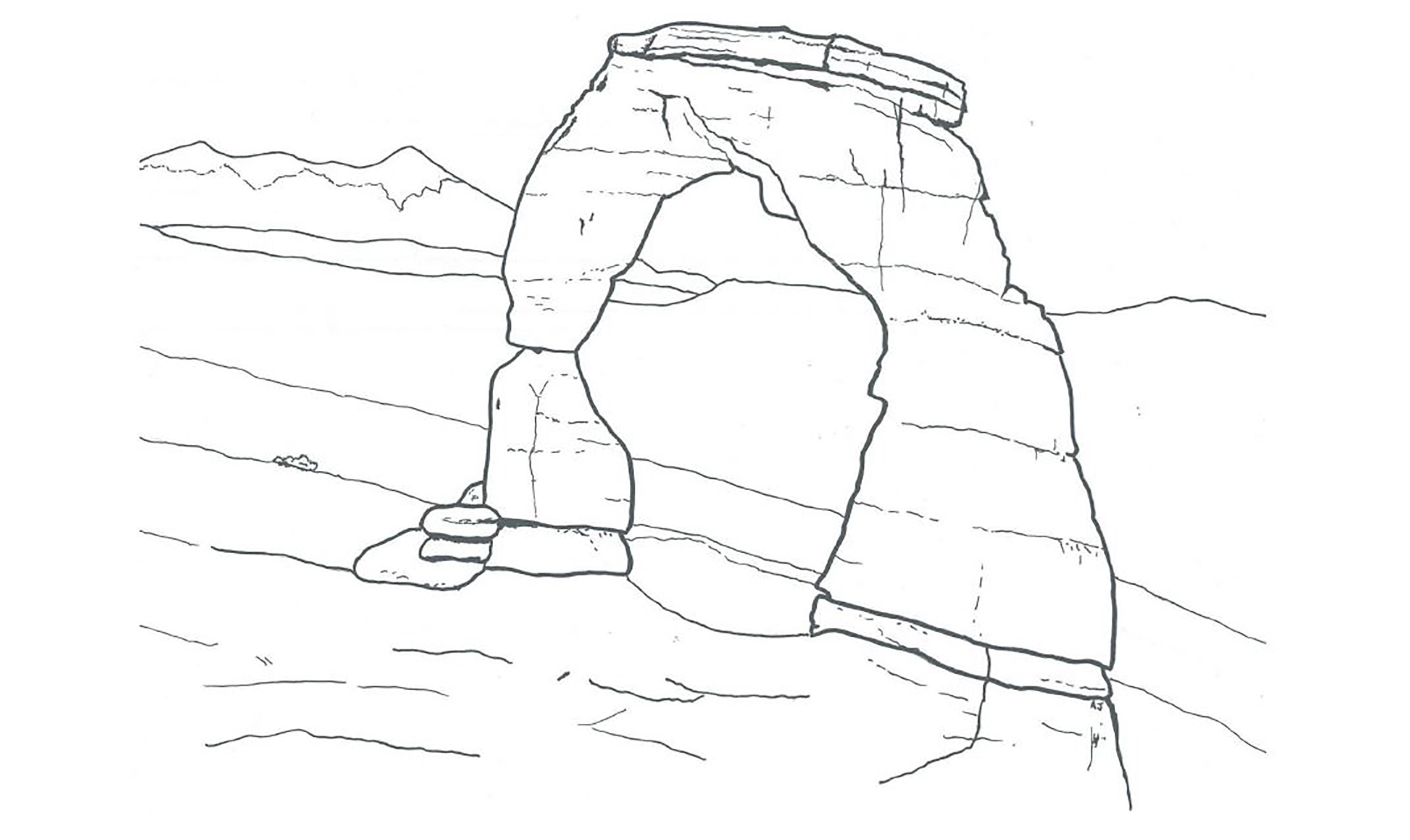 2550x1520 Coloring Pages Arches National Park U S Service Unusual Grand