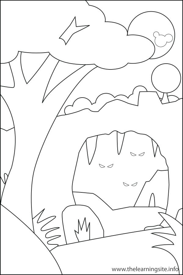 599x899 Learning Site Coloring Page Outline Nature Cave Landform Coloring