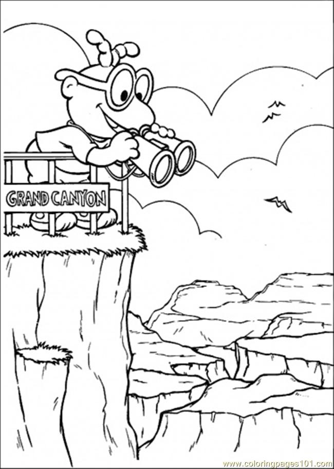 650x912 Looking From Grand Canyon Coloring Page