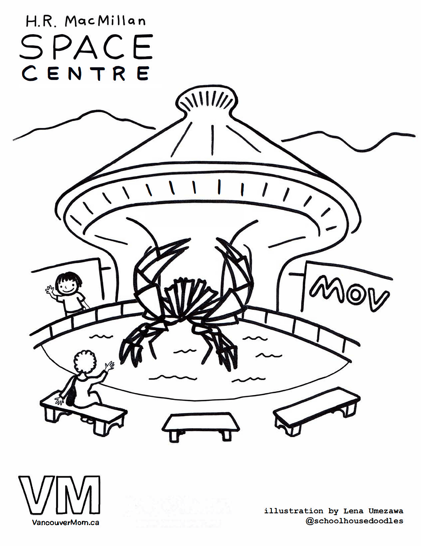 1392x1804 Vancouver Colouring Pages