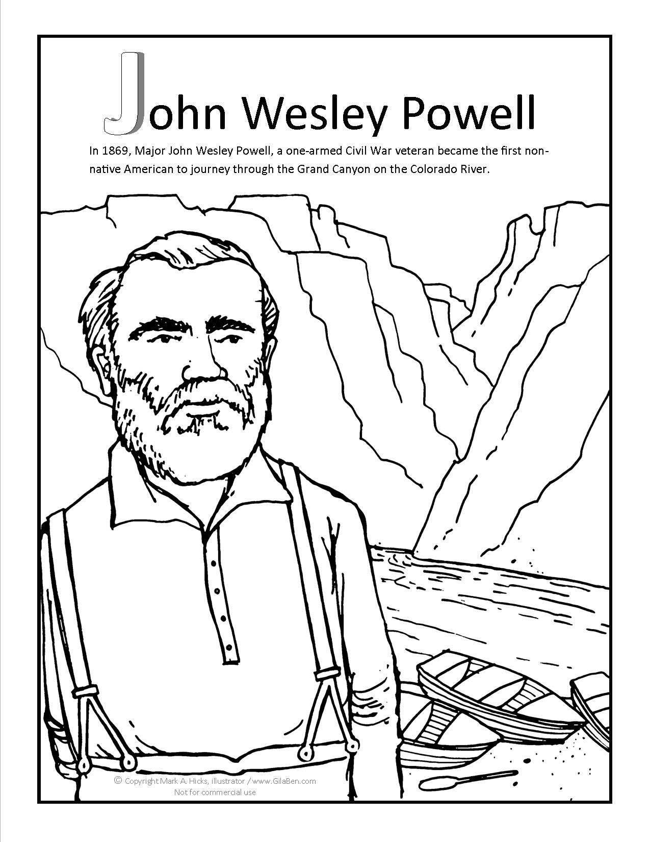1275x1650 John Wesley Powell Coloring Pa