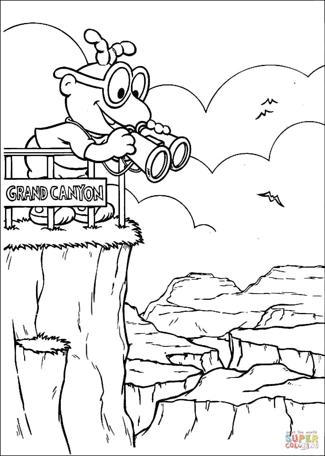 1133x1588 Baby Scooter In Grand Canyon Coloring Page Free Printable