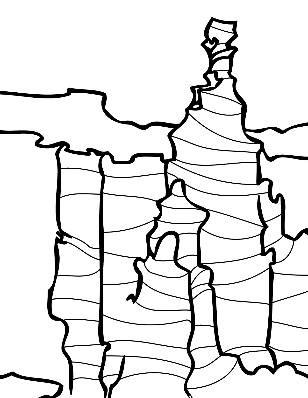 1275x1650 Bryce Canyon Coloring Page