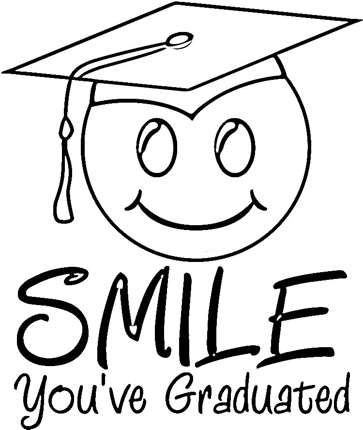 750x888 Graduation Cap Coloring Page Pages S