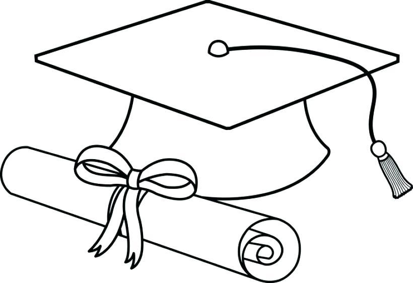 820x562 Graduation Cap Coloring Page Preschool Graduation Cap And Gown