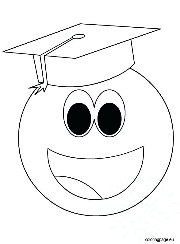 587x794 Graduation Cap Drawing At Free For Personal Use Smiley Face