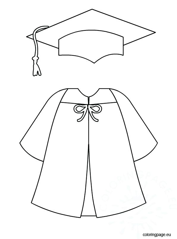 595x804 Cap Coloring Page Graduation Cap And Gown Bottle Cap Coloring Page
