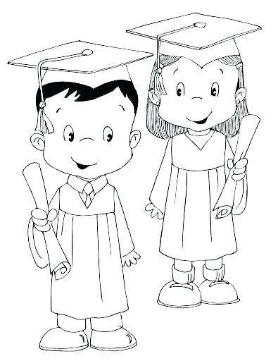 395x512 Graduation Coloring Pages Graduation Coloring Pages Preschool