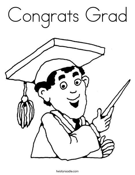 468x605 Congrats Grad Coloring Page
