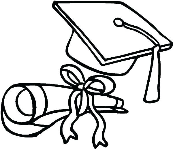 600x517 Graduation Cap Coloring Page Charming Graduation Coloring Pages