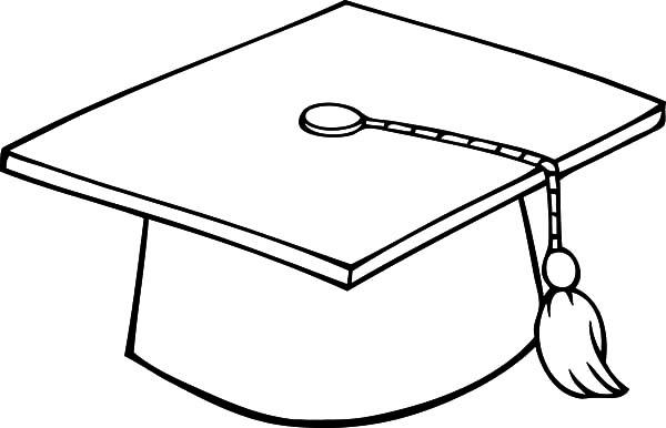600x386 Graduation Cap Coloring Page Graduation Cap Coloring Pages Color