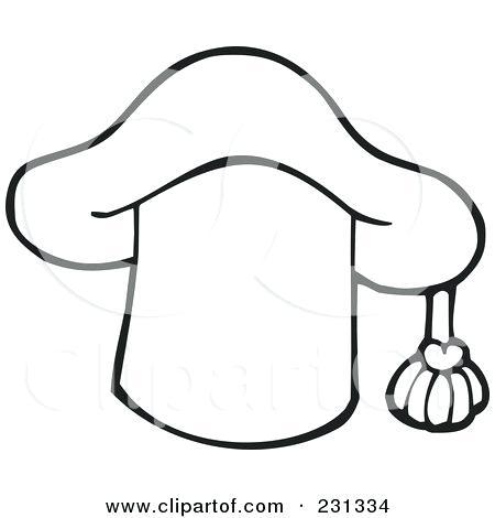 450x470 Graduation Cap Coloring Page Royalty Free Illustration