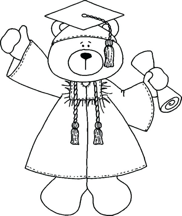 600x714 Graduation Cap Coloring Graduation Cap Coloring Page