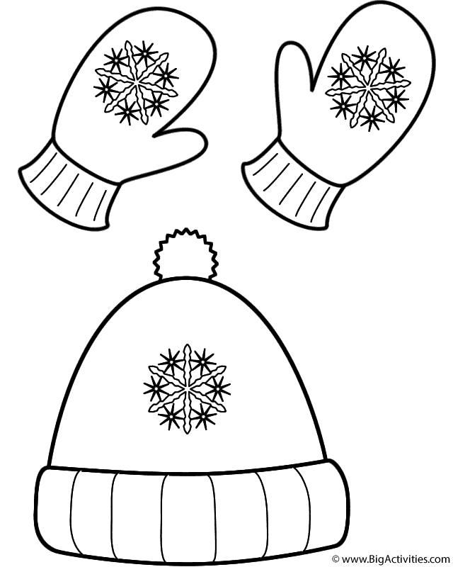 640x800 Winter Hat And Mittens