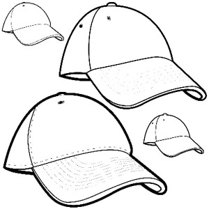 300x300 Baseball Cap Picture Coloring Page Coloring Sun