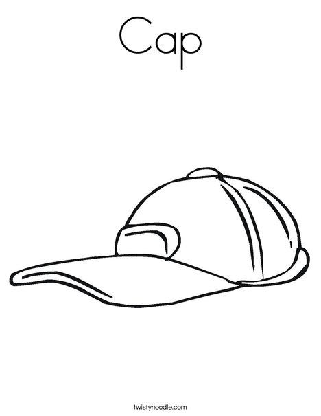 468x605 Cap Coloring Page