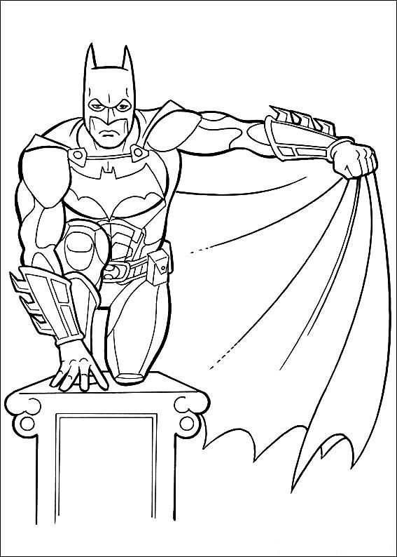 567x794 Batman Cape Coloring Page