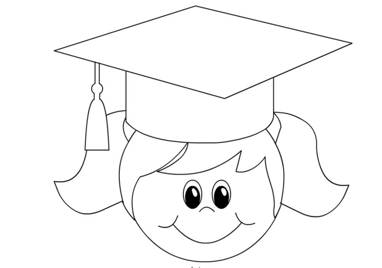 1280x900 Graduation Coloring Pages For Kindergarten To Print Cap Page