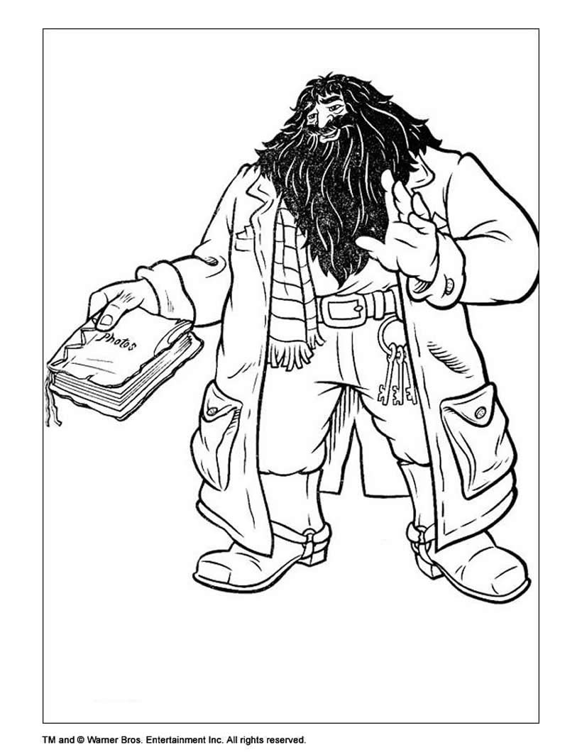 820x1060 Harry Potter With Invisible Cape Coloring Pages