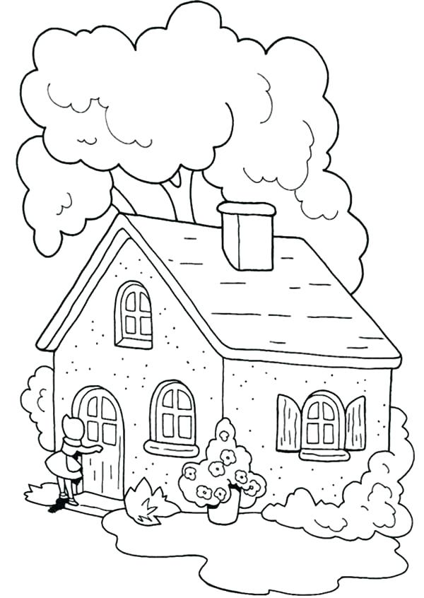 600x846 Little Red Riding Hood Coloring Pages Fairy House Coloring Pages