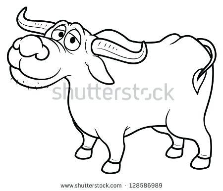 450x386 Buffalo Coloring Page Illustration Of Cartoon Buffalo Coloring