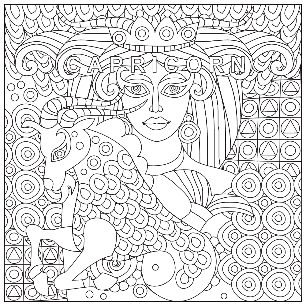 Capricorn Coloring Pages At Getdrawings Com Free For