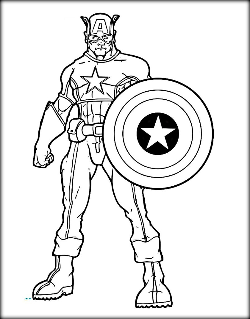 Captain America Cartoon Coloring Pages