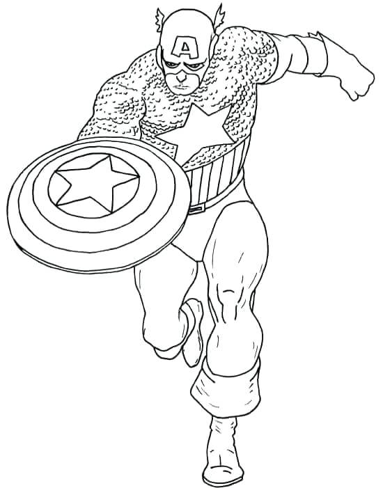 550x701 Captain America Coloring Pages Captain Attack Coloring Page