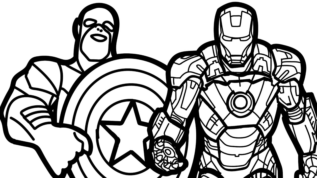 Captain America Coloring Pages At Getdrawings Free Download
