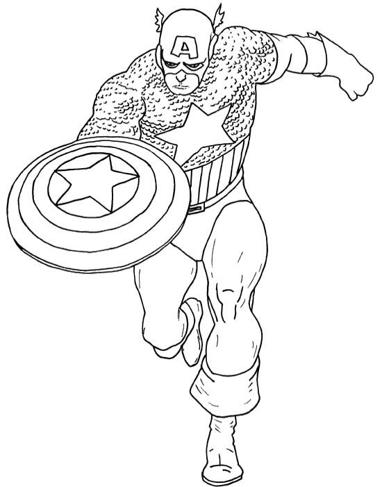 Captain America Coloring Pages Printable At Getdrawings Com Free