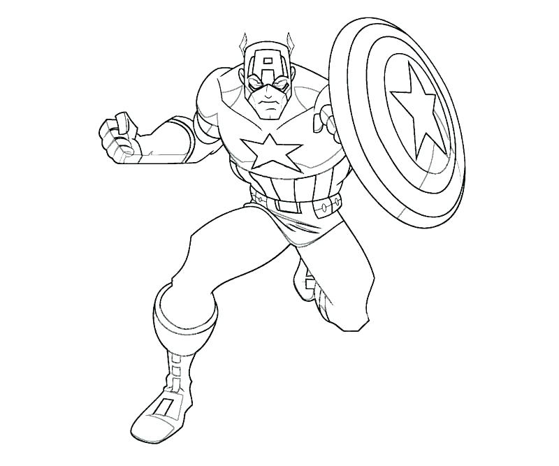 800x667 Captain America Printable Coloring Pages Captain Coloring Pages