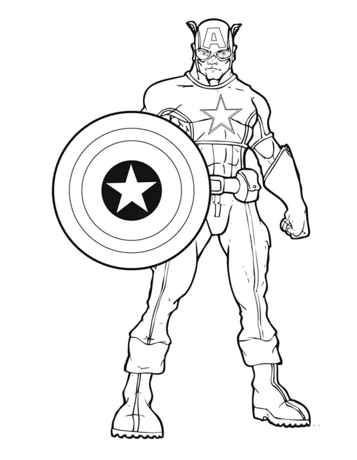 728x938 Captain Coloring Page With Wallpaper Desktop Captain Coloring Page