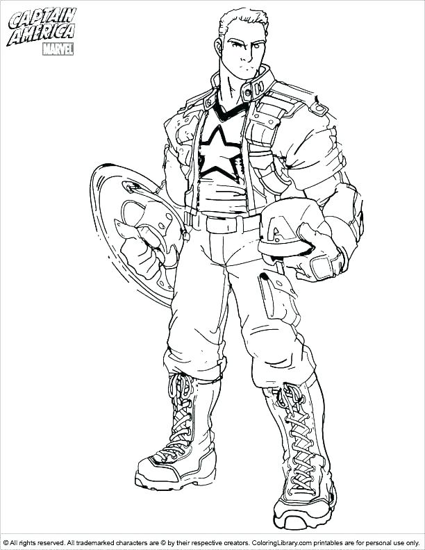 612x792 Coloring Pages Captain America Captain Printable Coloring Pages