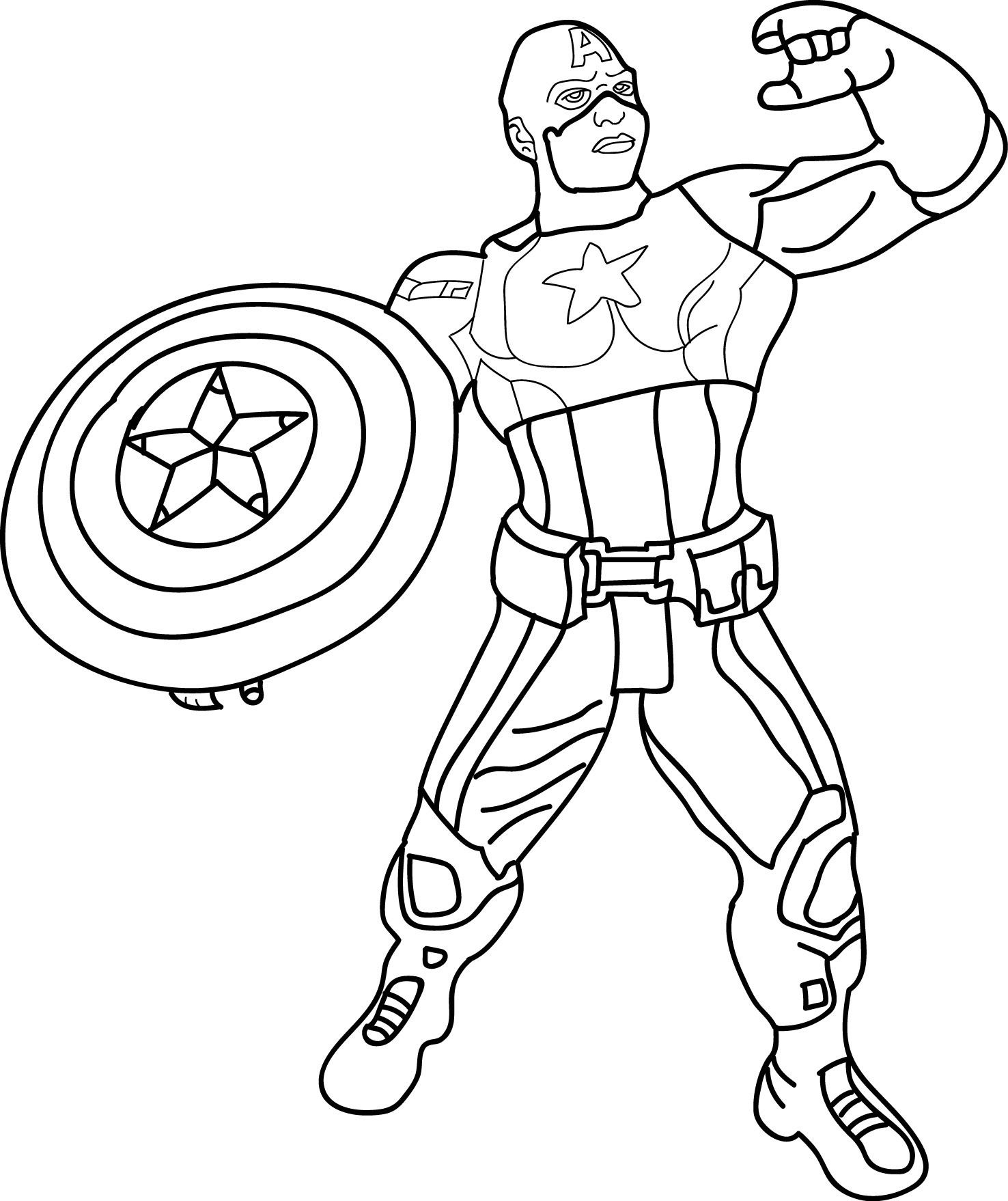 1476x1758 Engaging Captain America Coloring Pages Preschool For Tiny