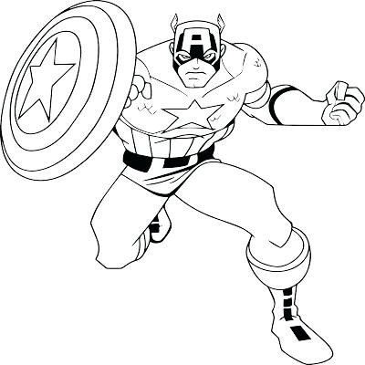 400x400 Captain America Coloring Page Captain Coloring Pages For Kids Free