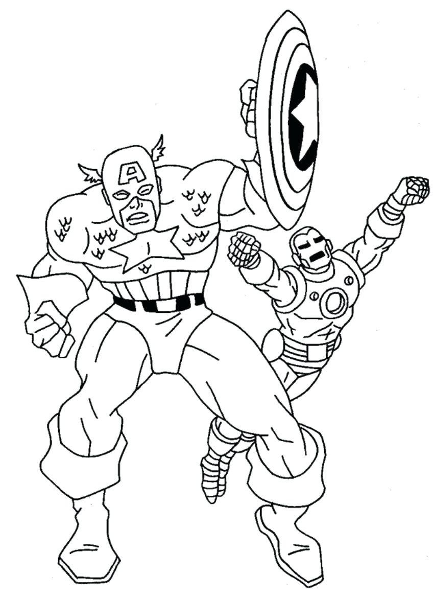 848x1170 Coloring Pages Captainmerica Coloring Pages With Iron Man