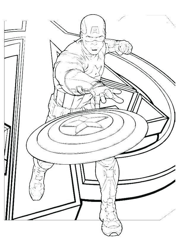 Captain America Lego Coloring Pages At Getdrawings Com Free For