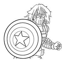 Captain America Logo Coloring Pages