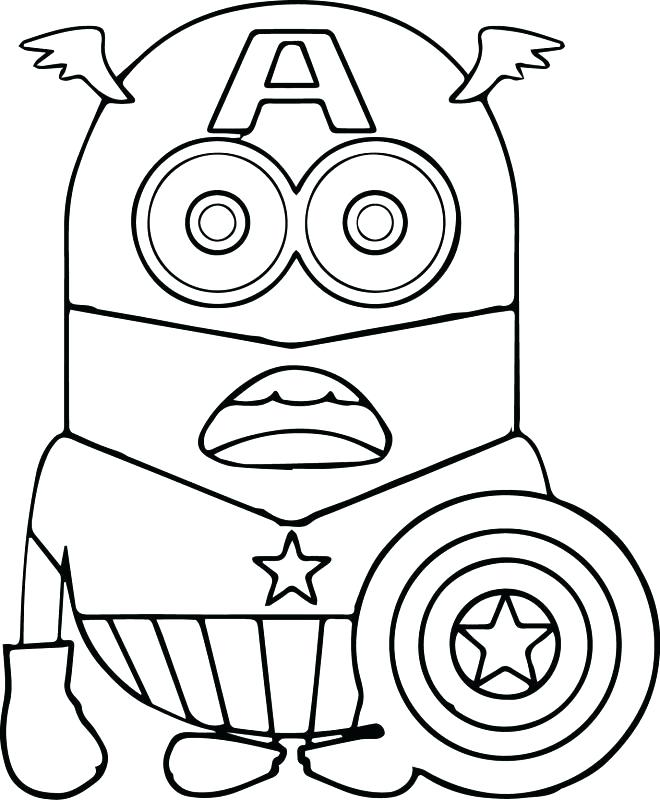Captain America Logo Coloring Pages At Getdrawings Com Free For
