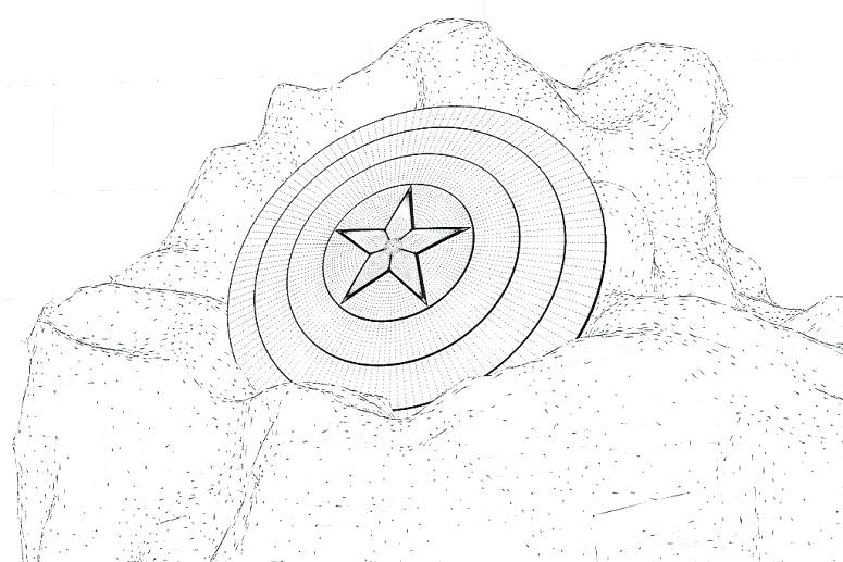 775x517 Captain America Shield Coloring Page Captain Shield Coloring Pages