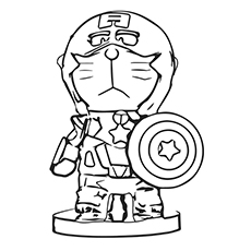 230x230 Amazing Captain America Coloring Pages For Your Little One
