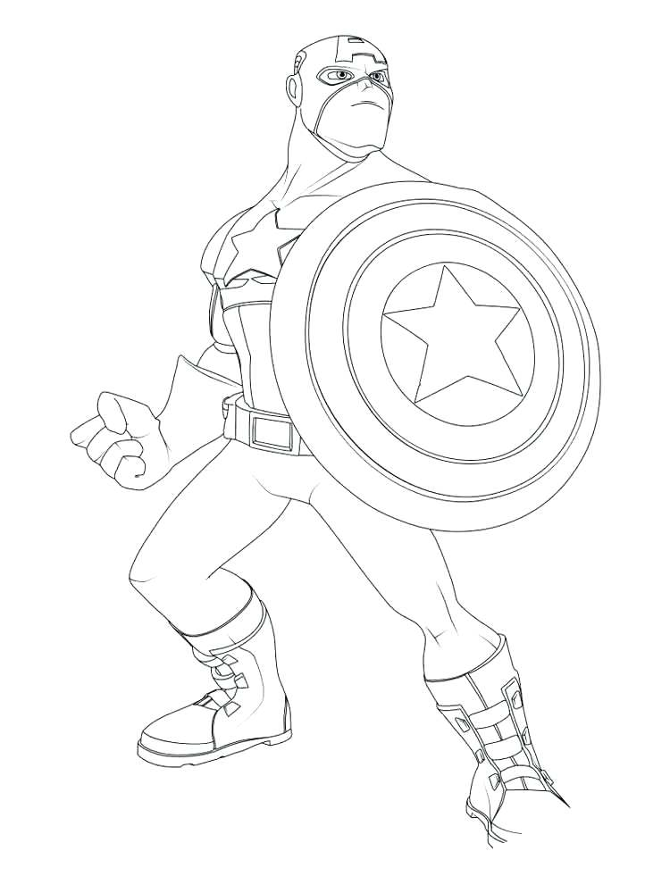 750x1000 Captain America Coloring Pages Download And Print Captain America