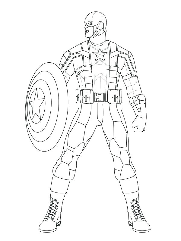 600x800 Captain America Shield Coloring Page Coloring Pages Captain