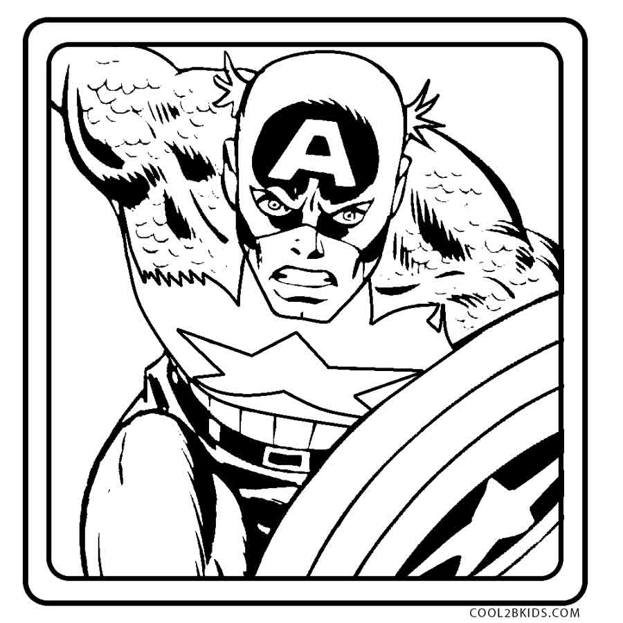 900x900 Free Printable Captain America Coloring Pages For Kids