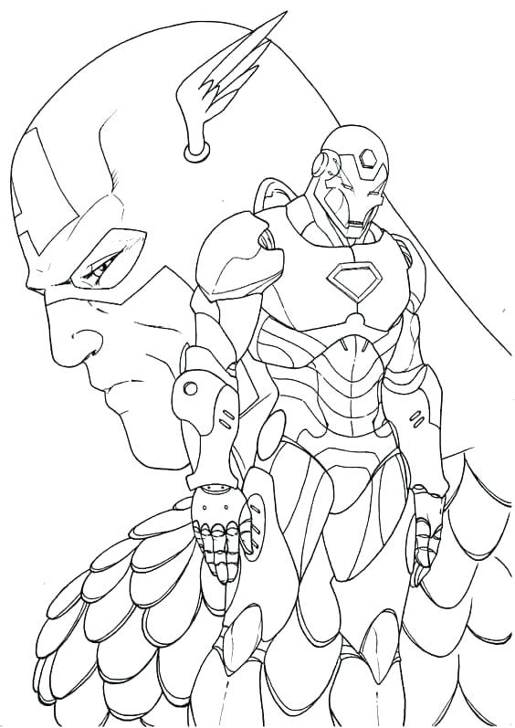 564x797 Captain America Color Pages