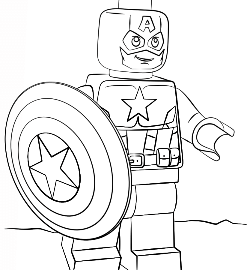 824x900 Amazing Captain America Printable Coloringge Drawing Freeges