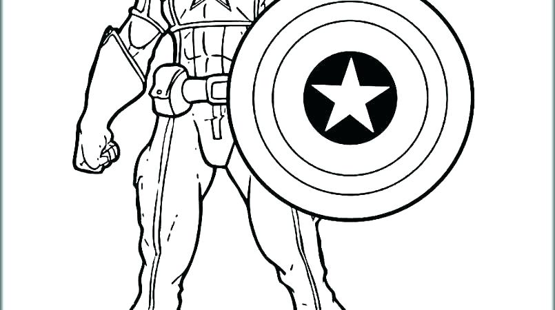 The Best Free Captain America Coloring Page Images Download From