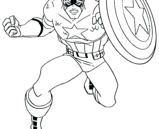 522x425 Captain Marvel Colouring Coloring Pages A Captain America Pictures